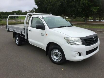 2011 Toyota Hilux TGN16R MY12 Workmate White 5 Speed Manual Cab Chassis Homebush West Strathfield Area Preview