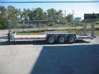 2014 Brimar Galvanized 24' Tri Axle Equipment Trailer