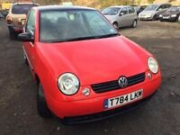 Volkswagen Lupo 1 litre, starts and drives well, 1 years MOT (runs out November 2017), ideal first c