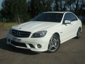 2011 Mercedes-Benz C63 W204 AMG White Automatic Sedan Lansvale Liverpool Area Preview