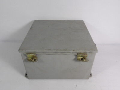 Hoffman A10106ch Junction Box Continuous Hinge With Clamps 10x10x6 Used