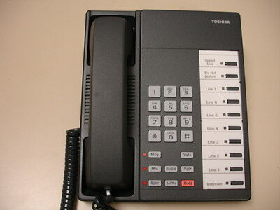 Ten Refurbished Charcoal Toshiba Dkt-2010s Telephone Sets Toshiba Dkt2010s