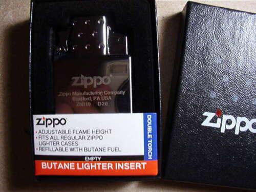 ZIPPO LIGHTER  NEW  BUTANE INSERT DOUBLE BLUE TORCH  WITH BOX  65827