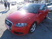 2008 Audi A3 2.0T Hatchback Leather Sunroof Red only 80,000km