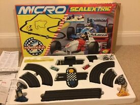 Micro Scalextric Set, Formula 1, Barely Used