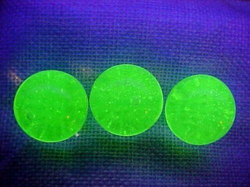 8 ULTRA VIOLET UV REACTIVE (FLORESCENCE) VASELINE   GLASS MARBLES $10.99