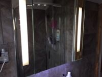 Bathroom Cabinet with Demister Pad, LED lighting and Shaver Charger (New and unboxed)