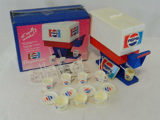 Pepsi Cola Drink Dispenser- VINTAGE New-In-Box 1960s - Chilton-Globe Toys