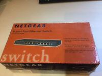 Netgear FS108 8 port Fast Ethernet Switch. Sealed box
