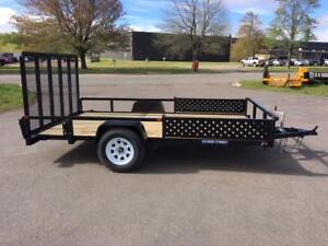 "NEW 2018 SURE-TRAC 82"" x 12' TUBE TOP UTILITY TRAILER"