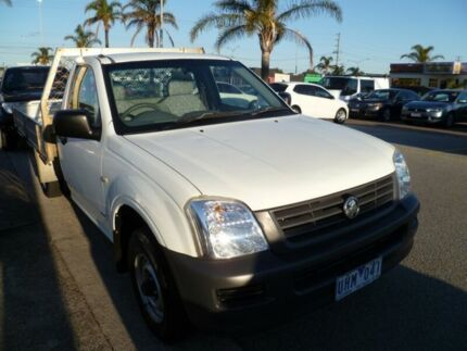2006 Holden Rodeo RA MY06 DX 4x2 White 5 Speed Manual Cab Chassis Heatherton Kingston Area Preview