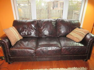 2 leather couches, 1 leather loveseat and 1 leather chair