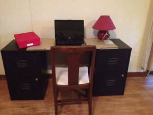TWO black, two drawer filing cabinets St Lucia Brisbane South West Preview