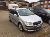 2007 VW Touran S 1.6 Petrol silver 7 seater 7 seats MPV People carrier family car 5 door face-lift
