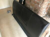 Chocolate Brown Leather headboard Double Bed frame (Complete)