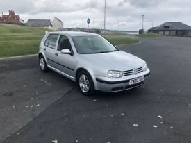 VW Golf 1.4 petrol 5 door Silver September MOT Nice condition Drives really well