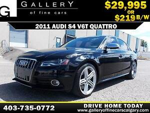2011 Audi S4 3.0T QUATTRO $219 bi-weekly APPLY NOW DRIVE NOW
