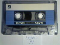 8x DIFFERENT MAXELL CASSETTE TAPES 1990-1995. S-LN 90, SXII 90, UR 60/90/120, CD'SI 80, UDII 90