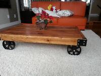 Elegant barn wood table