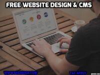 FREE WEBSITE DESIGN & CONTENT MANAGEMENT SYSTEM (CMS). Just Pay for Hosting*