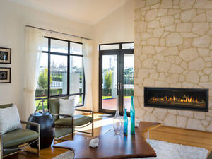"""Premium 60"""" Linear Gas Fireplace Clear-out Price! $2000 off!"""