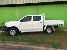 2008 Toyota Hilux KUN26R 08 Upgrade SR (4x4) White 5 Speed Manual Dual Cab Chassis Coonamble Coonamble Area Preview