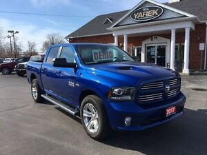 2017 Ram 1500 Sport 4x4, Heated Seats/Whhel, Remote Start, NAV,