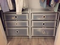 New pair of chest of three drawers - great for in-wardrobe storage or for use as side tables