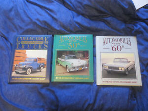 3 Car Books 50's 60's Vintage Cars + Collectible Trucks Photos
