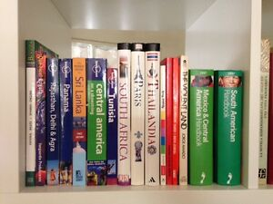 Travel guides (lonelyplanet) and spanish dictionaries