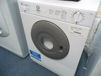 NEW GRADED WHITE TABLE TOP VENTED INDESIT TUMBLE DRYER REF: 13275