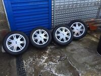 SET OF FORD FIESTA WHEELS & TYRES 14""