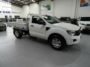 2012 Ford Ranger PX XL Cab Chassis Single Cab 2dr Man 5sp, 4x2 1439kg 2.5i White Manual Cab Chassis Pendle Hill Parramatta Area Preview
