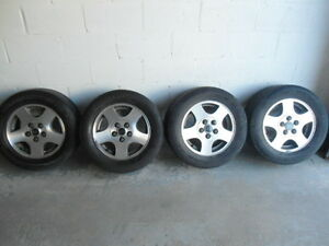 4 summer tires on rims in great condition for sale
