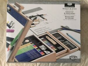 Royal & Langnickel 124-Piece Sketching and Drawing Easel Artist