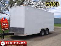 REMORQUE FERMÉ V-NOSE ENCLOSED TRAILER CARGO GATOR  8.5 X 16  PI
