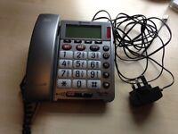 Large button corded phone Powertel 49 Plus