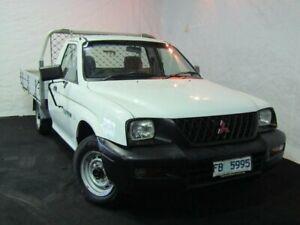 2004 Mitsubishi Triton MK MY04 GLX Club Cab 4x2 White 5 Speed Manual Utility Derwent Park Glenorchy Area Preview