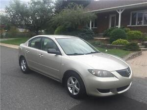 2004 MAZDA 3 , AUTOMATIQUE  ,AIR CLIMATISE, 4 CYLINDRE 2.0  LITR