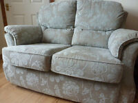 G PLAN SOFA upholstery two-seater contemporary floral fabric small settee removeable covers v.g.c.