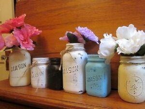 Vintage Canadian Mason Jar Vases