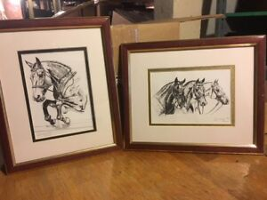Limited Edition set of 2 framed Horse prints
