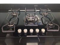 AEG BLACK GAS HOB
