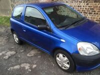 TOYOTA YARIS 3DR MOT TILL 11/12/2017 GOOD CONDITION