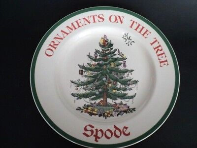 Spode China Christmas Tree S3324 Advertising Plate Ornaments On The Tree unused Spode China Christmas Tree Ornaments