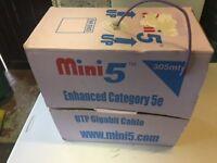 Box Cat 5e cable