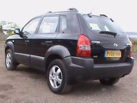 HYUNDAI TUCSON 2.0 GSI 4X4 BLACK,MOT 30/6/2018,CLICK ON VIDEO LINK TO SEE CAR IN GREATER DETAIL