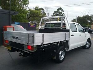 2008 Toyota Hilux TGN16R 07 Upgrade Workmate White 5 Speed Manual Dual Cab Pick-up Greenacre Bankstown Area Preview