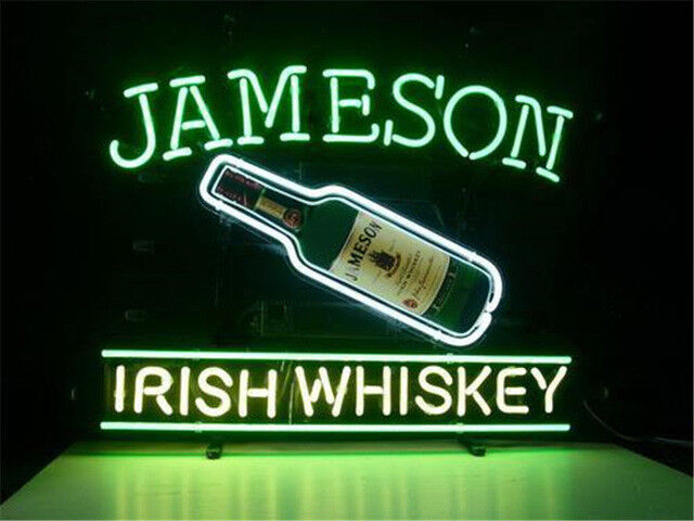 New Jameson Irish Whiskey Bottle Beer Bar Neon Sign 17""