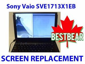 Screen Replacment for Sony Vaio SVE1713X1EB Series Laptop